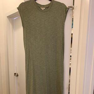 Unworn calf length T-shirt dress